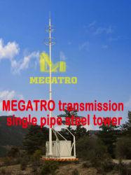 Megatro Única torre de acero del tubo de transmisión