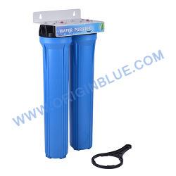Промышленных 2 этапов 20-дюймовый тонкий синий корпус фильтра воды