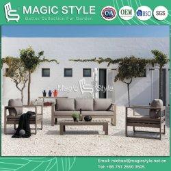 Aluminio exterior sofá con cojín Jardín Sofá único ocio moderno sofá mesa de té de aluminio Muebles de jardín