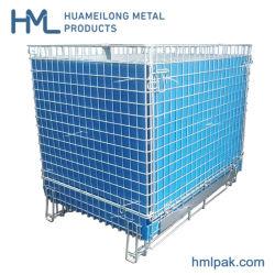 L'animale domestico industriale dello zinco imbottiglia la rete metallica di memoria che impila il cestino pieghevole