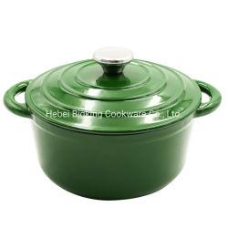 Piatto di cottura in cucina, piatto di scorta di zuppa di smalto pesante senza bastone Con coperchio