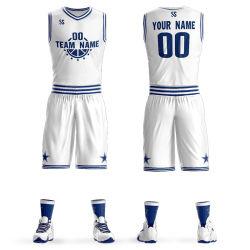 De in het groot Goedkope Uniformen van Jersey van de Slijtage van het Basketbal van het Ontwerp van de Douane Omkeerbare