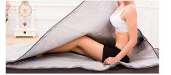 Новая модель 2 зоны РПИ сауна до сих пор инфракрасное излучение тела похудение сауна одеяло отопление терапии тонкий пакет SPA потеря веса тела Detox машины