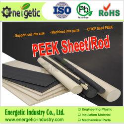 Strato di Peek naturale e Rod di plastica, piatto della valvola di Peek, parti di Peek, cuscinetto di Peek, Peek del polimero, Peek medico