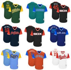 Baseball autentico Jersey di fine settimana dei giocatori di Astros 2017 di colori rossi di atletismo