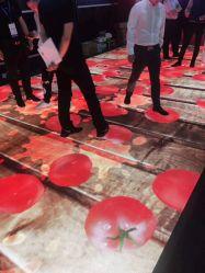 Feu de luxe jusqu'en verre trempé Panneaux vidéo des tuiles de plancher Plancher de danse transparente
