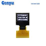 0,42 pouce Micro OLED blanc LCD avec lecteur de disque dur SSD1306BZ IC Interface I2C 12.0*11.0*1,22mm Aperçu Taille affichage FPC 16 broches