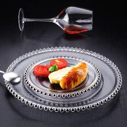 Kundenspezifische elegante Goldfelgen-wulstige Aufladeeinheits-Glasplatte