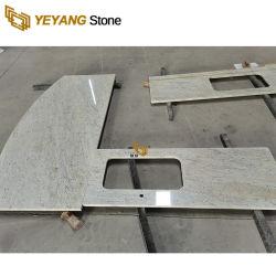 Quality Brown/cinza/branco do granito Lajes de pedra/azulejos balcões de cozinha/Vaidade Tops por grosso