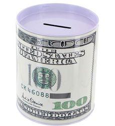 $100 Dollar Bill Hucha Coin estaño puede ahorrar dinero