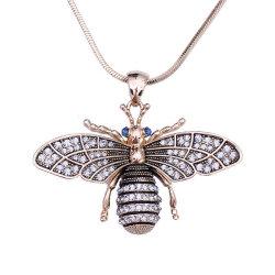 Мода латунные Циркон Micro проложить Золото 18k позолоченными контактами регулируемой длинной цепи насекомых-Bee Парижем, подвесная цепочка для мужские украшения