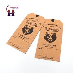 Китай метку производителя специализированные печатные нести логотип торговой марки животных из переработанных крафт-бумаги джинсы повесьте предупреждающие знаки с проушинами