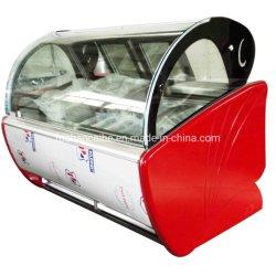 Section économique Gelato vitrine de crème glacée congélateur d'affichage