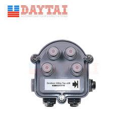 La Chine prix d'usine CATV Sub-Trunk de plein air 4 contacts, appuyez sur
