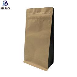 Sac en papier kraft haute barrière avec soupape de dégazage pour le café