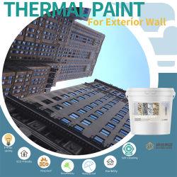 China pintura aislante térmico de alta calidad ecológica de productos químicos Nano Capa de aislamiento térmico para la construcción de muro exterior