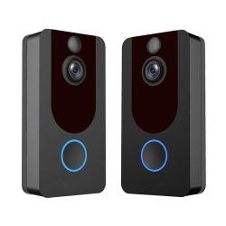 2019 Amazon Hot HD 1080P V7 sonnerie vidéo WiFi Sonnette de Porte de la caméra sans fil de Bell Dingdong Carillon sonnette avec Bell