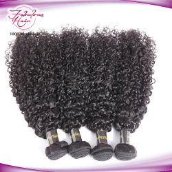 Le tissage de gros de l'extension de cheveux brésiliens de tressage des cheveux bouclés pour