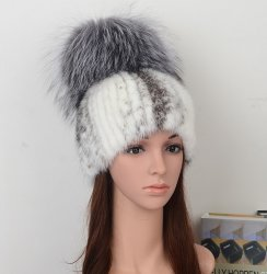 Mink Fur Hat Fashion Style Model: Mfh06-03