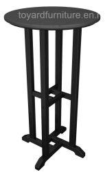 Tabella riciclata protettiva UV della barra rotonda di svago di Polywood della mobilia commerciale esterna