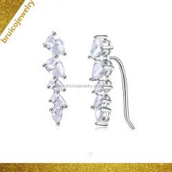 Joyas de Plata de la moda clip de oreja de Oro Joyería de pendientes con diamante