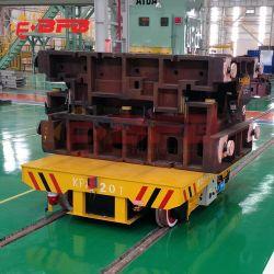 Werkplaatsuitrusting voor het overbrengen van accu's met elektrische gemotoriseerde rail Flat Car Voor matrijsbeweging