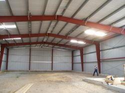 Costruzione prefabbricata della tettoia della Camera della costruzione del magazzino di memoria del blocco per grafici del metallo della struttura d'acciaio del fascio di basso costo H