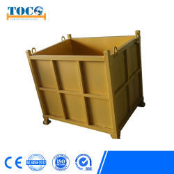 Kundenspezifischer Stahlmetallhochleistungsspeicher-faltbarer stapelbarer Ladeplatten-Behälter