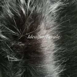 Schwarzer Waschbär-Haar-Pelzfox-gefälschter Pelz
