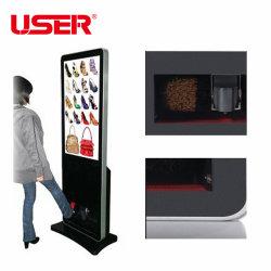 42 インチフロアスタンド LCD マルチファンクション靴磨きデジタルサイネージ