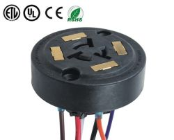 La norme ANSI C136.41 étanche à 5 broches à 7 broches Prise Photocontrol réglable pour l'éclairage