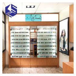 Visualizzazione ottica di vetro del Governo di parete della decorazione del negozio del MDF