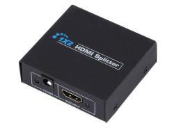 1X2 Suporte Divisor HDMI 1080P 3D de energia da UE
