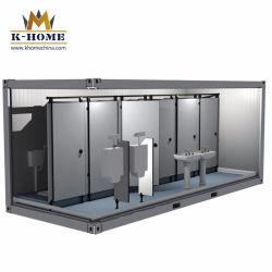 Disegno moderno della stanza da bagno pubblica commerciale del contenitore