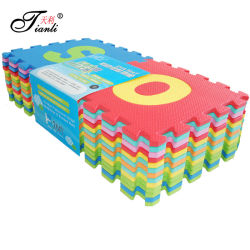 Non toxique Eco interverrouillage de tuiles de mousse souple de jeux pour enfants EVA de puzzle tapis de sol 9 pièces