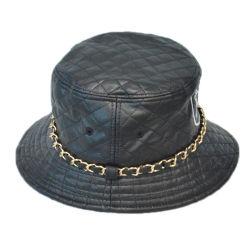 Kundenspezifische normale Fischen-Schutzkappe Leahter Dame-breiter Rand-Wannen-Hut mit Kennsatz