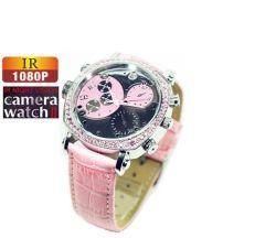 LED infrarouge imperméable 1080P Sports Lady montre-bracelet Watch caméra enregistreur vidéo numérique Mini DV