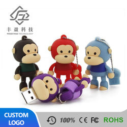 Пвх USB Memory Stick 3D резиновые Monkey форму флэш-накопитель