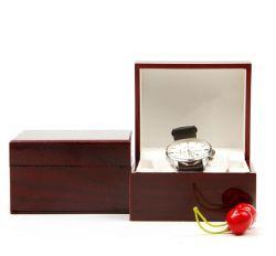 Heißer Verkaufs-preiswerter und feiner einzelner Kippen-Typ hölzerner Uhr-Kasten, glatter Lack-Uhr-Verpackungs-Kasten für Uhr-Ansammlung