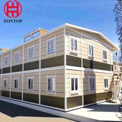 2 Geschoss-helles Stahlkonstruktion-Rahmen-Landhaus-Haus-modulares Ausgangsabnehmbares expandierbares vorfabriziertes Gebäude-neues Modell LuxuxFlatpack Fertigbehälter-Haus