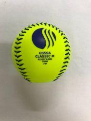 Popular de la fábrica de logotipo personalizado de alta calidad óptica de oficiales de béisbol de color amarillo de Softbol de la formación de equipos de pelota Deportes al aire libre