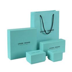 Custom Royal de lujo Joyas de regalo de cartón caja azul