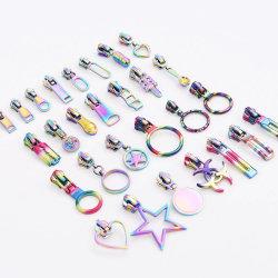 Custom patrón creativo brillante Rainbow deslizante con cremallera para las bolsas, ropa, tiendas de campaña, el equipaje