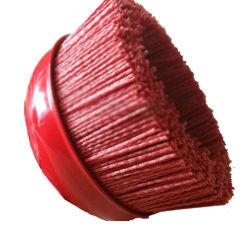 Quetschverbundener Draht-Rad-Pinsel-runder Drahtbürste-Nylondraht-Cup-Pinsel