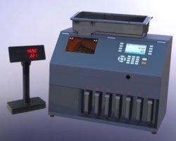 Beroeps 6+1 Sorteerder gewicht-70 van het Muntstuk van Havens de Teller van het Muntstuk van de Hoge snelheid, Sorteerder, de Tellende en Sorterende Machine van het Muntstuk, Vervaardiging, Fabriek