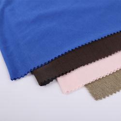 La mano suave sensación de calor tejido ligero de la venta el 65%35%Poly Rayon solo Camisetas Camiseta de tela