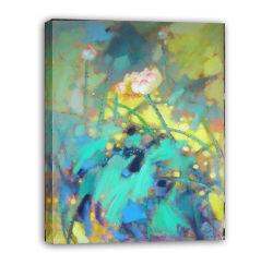 Paesaggio Waterlily - 005 di Impressionism su pittura a olio