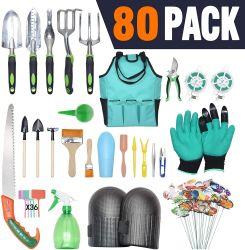 80 قطعة أدوات حديقة مع حقيبة قلايات وقفازات لـ زراعة الأسرة