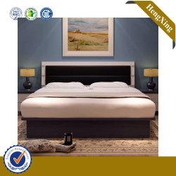 Design de luxo Barato preço cama de casal de madeira sólida base com a tabela da gaveta