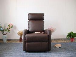 Moderno y elegante empujar un sillón reclinable PU sofá de cuero